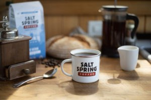 Salt Spring Coffee Cup on Table