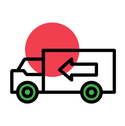 Delivery and Pick up truck icon